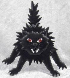 VINTAGE JJ HALLOWEEN BLACK CAT BROOCH HUGE WITCH'S HISSING BLACK CAT PIN #JJ