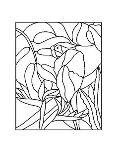 ★ Stained Glass Patterns for FREE ★ glass pattern 592 ★