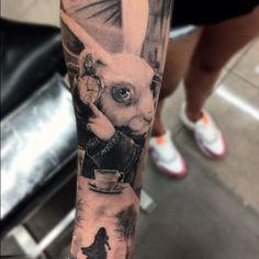 Healed Alice in wonderland piece #tattoo #ink #inkjecta #hustlebutterdeluxe