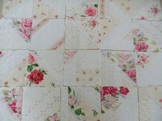 quilt from old linen and lace