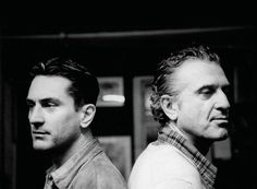 Robert De Niro and his father, photographed by Angelo Novi