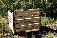 DIY compost bin from old pallets - My husband made one of these for his work. It works great!