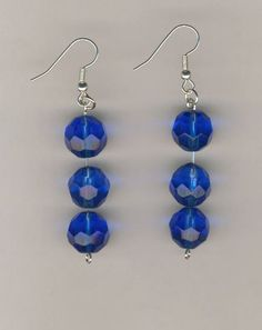 CHEAPLY PRICED.  $12.50.  FREE NECKLACE WITH EVERY PURCHASE!  Silver-Plated / Stainless Steel / Glass Bead Earrings.  These earrings are part of an earring / necklace set.  https://www.etsy.com/ca/shop/JehovahJJewellery?ref=si_shop