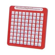 Learning how to multiply on a math keyboard.  I had one of these to help prepare to stand up in front of both 4 grade classes to be quizzed on multiples.