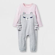 a22833d7d Baby Girls' Romper - Cat & Jack™ Heather Gray Newborn