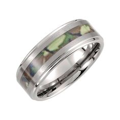 Tungsten 6mm Ridged Band with Desert Camo Inlay Size 5.5, Ring Size 5.5 -- Want to know more, click on the image. (This is an affiliate link) #Rings