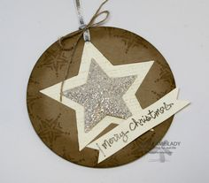 Star Christmas Tag made with the Stars Framelits the glimmer paper. Have you started your Christmas stamping? www.mystamplady.com