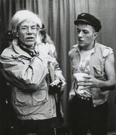 sonicmoremusic:  Classic Photo: Joe Strummer & Andy Warhol 1982 View Post
