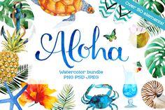 My new watercolor Hawaiian bundle