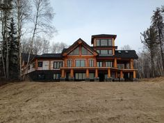 Log Cabin Getaways, Getaway Cabins, Log Home Plans, House Plans, Wooden Cabins, Post And Beam, House In The Woods, Log Homes, Rustic Wood