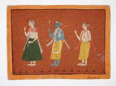 Rama, Sita, and Lakshmana, Folio from a Ramayana Contemporary Artists, Modern Art, Christian Marclay, Do Ho Suh, Southeast Asian Arts, Frank Stella, Group Art, Museum Exhibition, Japanese Artists