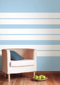 Tape designs for painting walls the design pages how to - Rayas horizontales ...