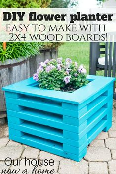 DIY flower planter u