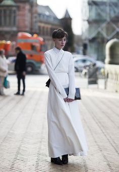 it's all white and spectacular. @ Copenhagen Fashion Week
