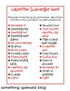 valentine's day scavenger hunt clues (printable | scavenger hunt, Ideas
