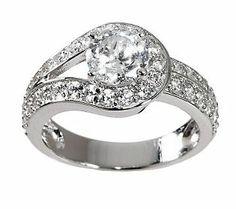 Epiphany Diamonique 100-Facet Love Knot Ring