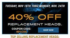Replacement Coil Heads 40% Off - Aspire 5pk. $6.57 - http://vapingcheap.com/replacement-coil-heads-half-nautilus-5pc-5-98/