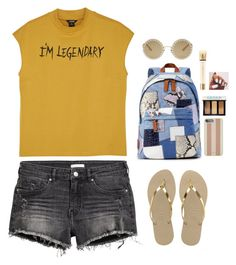 """Tired"" by see-starxs-above ❤ liked on Polyvore featuring Monki, Havaianas, Marc Jacobs, Michael Kors, Dolce&Gabbana, Bobbi Brown Cosmetics, Yves Saint Laurent, Summer, yellow and hike"