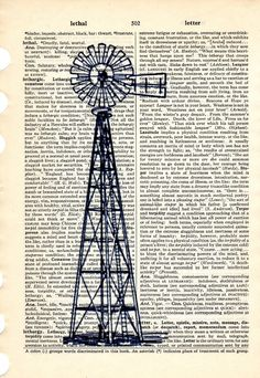 Items similar to Old Windmill dictionary book page collage art print Buy 3 get ANOTHER 1 Free on Etsy Book Page Art, Book Pages, Book Art, Old Windmills, Decoupage Art, Meditation Space, Printed Pages, Le Moulin, Pretty Pictures