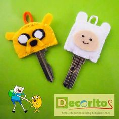 Ornament keys finn and jake adventure time // ornamento para llaves finn y jake hora de aventura