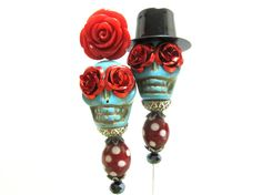 Day of the Dead Cake Topper Gothic Wedding by sweetie2sweetie, $26.99