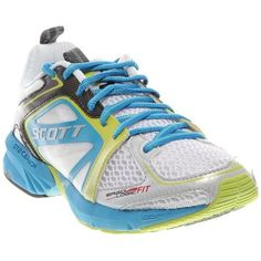 SCOTT Women Color: White/Ocean Womens Size: 10 * Continue to the product at the image link. Running Socks, Best Running Shoes, Trail Running Shoes, Running Sneakers, Racing Shoes, Trekking Shoes, Running Shoe Reviews, Snow Boots Women, Outdoor Woman