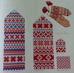 Pattern for Sami gloves from Kautokeino, Finnmark, Norway