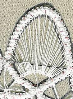om point lace spets och adhd: hur börjar man jobba med spetsen i bilder Freeform Crochet, Irish Crochet, Crochet Lace, Crochet Stitches, Beaded Flowers Patterns, Lace Patterns, Embroidery Hearts, Ribbon Embroidery, Crafts