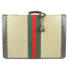 GUCCI Sherri Line Old Gucci Trunk Case PVC Leather Used F/S Luxury Branding, Line, Trunks, Gucci, Pattern, Leather, Ebay, Vintage, Products