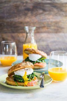 Eggs Florentine Bagel with Smoked Salmon Recipe