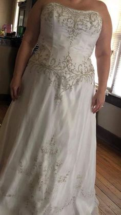 Here is an a-line plus size wedding gown with embroidery from Darius Bridal.  We make custom #weddingdresses for all sizes.  We also make #replicas of couture #dresses for brides who can not afford the original but still want the same style & overall look but for less.  Email us your pictures for pricing.