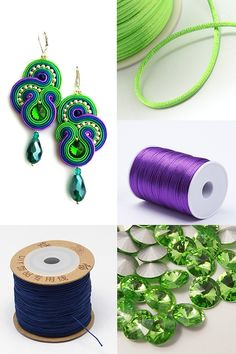 #PandaHall #CustomerShow----#PolyesterCords #SoutacheEarrings with Glass #Drop #Pendants #diyearrings #pendantearrings #jewelrymaking #jewelryfindings PandaHall Beads App Privilege: 1% OFF for all products. download here>>>goo.gl/RAEuuP Free Coupons: PHENPIN5 (Save $5 for $70+) PHENPIN7(Save $7 for $100+) Rope Jewelry, Feather Jewelry, Thread Jewellery, Soutache Jewelry, Fabric Jewelry, Gold Bridal Earrings, Diy Earrings, Embroidery Jewelry, Beaded Embroidery