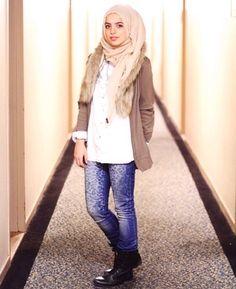 Casual chic hijabi style