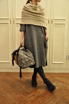 Great combo - wool & knits