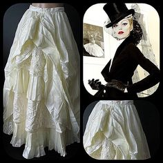 Vintage with no label Skirts - Stunning champagne-colored bohemian wedding skirt. Got a thing for #Victoriana #neoVictorian thingies. This doesn't disappoint. #Victorianskirt https://poshmark.com/listing/539a71c64c47c0059c01abe6?utm_source=ext_tw via @poshmarkapp