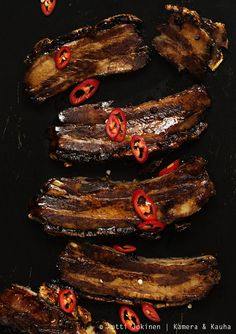 Porsaankylki uunissa. Pork Belly, I Foods, Meat, Recipes, Rezepte, Recipe, Cooking Recipes