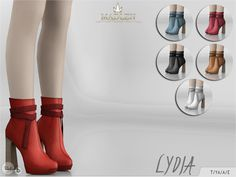 The Sims Resource: Madlen Lydia Boots by MJ95 • Sims 4 Downloads