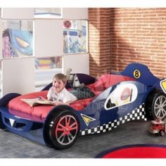 mclaren blue racing car bed