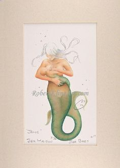 breastfeeding mermaid by Robert Kline - this one is framed and waiting for the new living room walls to be painted.