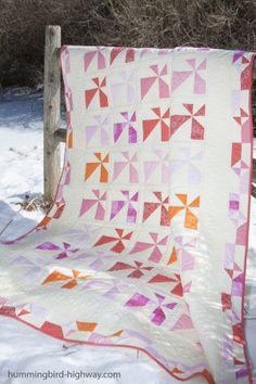 Hummingbird Highway Chopped quilt pattern, alternate block layout