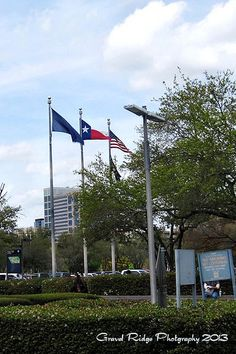 Flags at VA Medical Center Houston