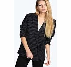 boohoo Alberta Pinstripe Double Breasted Blazer - black Breathe life into your new season layering with the latest coats and jackets from boohoo. Supersize your silhouette in a puffa jacket, stick to sporty styling with a bomber, or protect yourself from t http://www.comparestoreprices.co.uk/womens-clothes/boohoo-alberta-pinstripe-double-breasted-blazer--black.asp