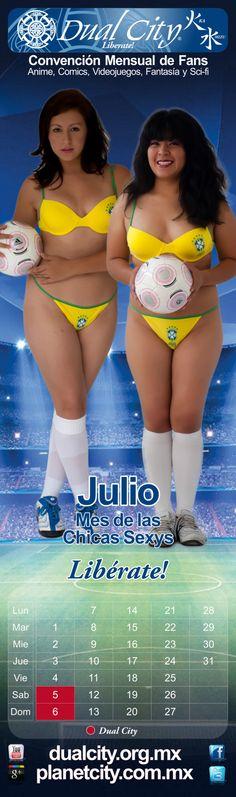 Calendario 2014 Dual City Girls  Julio Mes de las Chicas Sexys  www.dualcity.org.mx