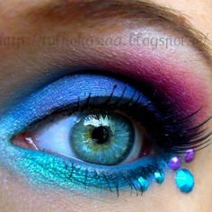 colorful eye makeup idea for my halloween costume