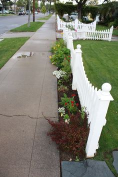 Picket Fence with room for plants along the front