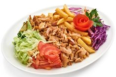 Our easy recipe will give you the taste of Greek gyros or shawarma at home. This favorite street food has just a twist of spices to create either one! Healthy Foods To Eat, Healthy Eating, Healthy Recipes, 30 Min Dinner, Gyro Pita, Greek Gyros, Chicken Gyros, Shawarma, French Fries