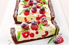 Raspberry and Chocolate No Bake Cheesecake