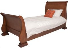 ASBOTES-BENTWOOD BED  The Bentwood Bed has a sleigh look a like. Has a curved foot end and headboard.     www.asbotes.com 021 591 0737