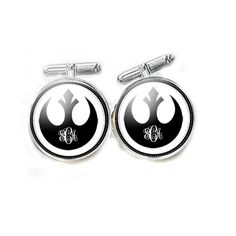 New to abellagift on Etsy: Rebel Alliance Monogram Star Wars Cufflinks Cuff links Gift for Men Customize Jewelry (30.00 USD)