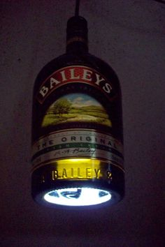 Be your own lighting specialist and make a bottle pendant light.